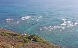 由海洋,檀香山,夏威夷的灯塔 免版税库存图片