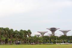 由海湾新加坡,新加坡, 2017年12月15日的庭院 免版税库存照片