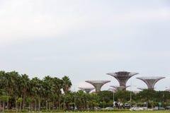 由海湾新加坡,新加坡, 2017年12月15日的庭院 库存图片