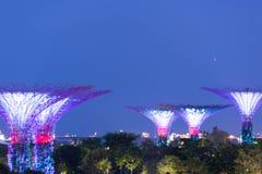 由海湾新加坡,新加坡, 2017年12月15日的庭院 库存照片