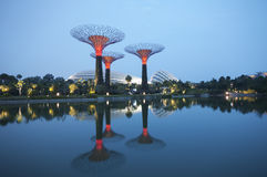 由海湾的庭院,新加坡。 免版税库存照片
