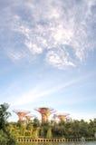 由海湾的庭院,新加坡 免版税库存照片