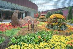 由海湾,花圆顶的庭院: 秋天收获 库存图片