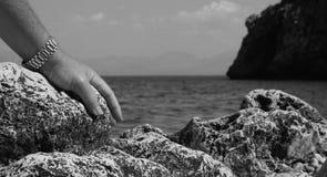 由海的休息 图库摄影
