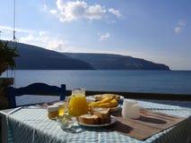 由海的早餐 图库摄影