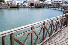 由海的步行 库存图片
