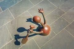 由海的童话雕塑斯海弗宁恩大道的 免版税库存照片