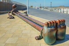 由海的童话雕塑斯海弗宁恩大道的 库存图片