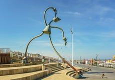 由海的童话雕塑斯海弗宁恩大道的 免版税库存图片