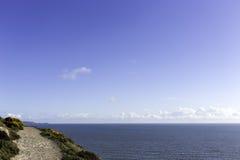 由海的走的轨道 库存照片