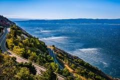 由海的路在克罗地亚 库存照片