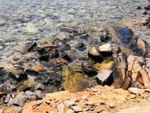 由海的运动的水 免版税库存照片