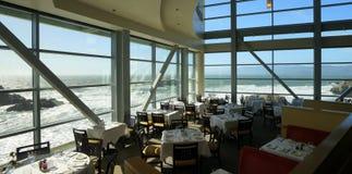 由海的餐馆 库存照片