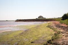 由海的维多利亚爱德华王子岛的在加拿大 图库摄影