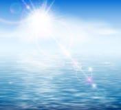 由海运的阳光 向量例证