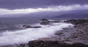 由海,力耶卡,克罗地亚 库存图片