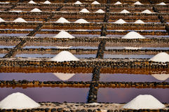 海盐堆 免版税库存图片