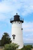 由海洋的灯塔在鳕鱼角 库存图片