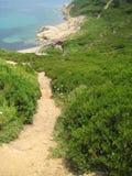 由海滩的Taverna从土地2 库存图片
