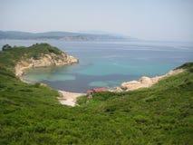 由海滩的Taverna从土地2 免版税图库摄影