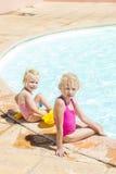 由游泳池 免版税图库摄影
