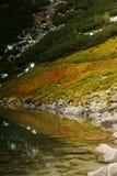 由湖的Colofrul小山 免版税库存图片