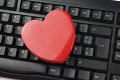 由点击-网上约会的爱 免版税图库摄影