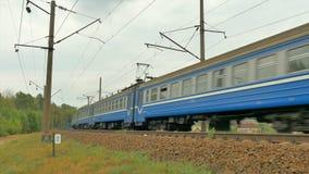 由照相机的旅客列车通行证 股票录像