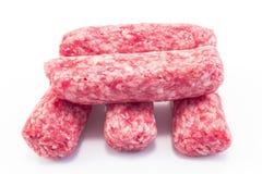 由猪肉做的未加工的kebabs 免版税库存照片