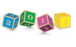 2015由玩具块做了 免版税库存照片