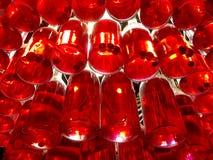 由瓶做的枝形吊灯樱桃利口酒 图库摄影