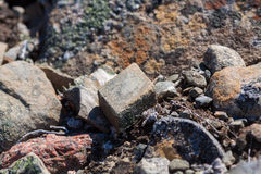 由石头做的形状的设计 库存图片