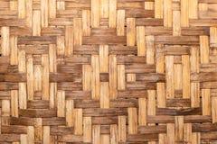 由竹子片断做的议院墙壁  免版税库存图片