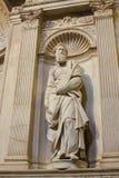 由米开朗基罗-锡耶纳大教堂,意大利的圣保罗 库存照片