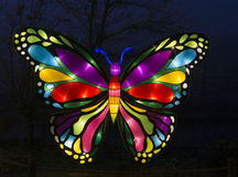 由纸和光做的蝴蝶 免版税库存图片