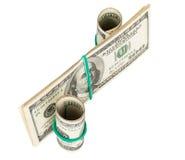 由美元做的百分号 免版税库存图片