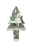 由美元的圣诞树 免版税库存图片