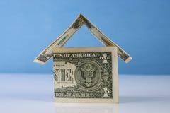 由美元笔记做的家 免版税库存照片