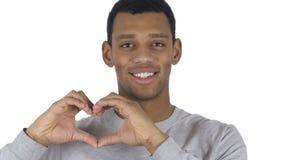 由美国黑人的人的心脏标志,手势 股票视频