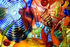 由艺术家戴尔Chihully的玻璃艺术品 库存照片