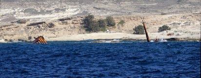 由芦粟海岛的海难 免版税库存照片