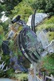 由被回收的材料做的海马雕塑 库存图片