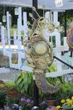 由被回收的材料做的海马雕塑 图库摄影