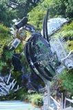 由被回收的材料做的海马雕塑 库存照片