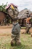 由被回收的材料做的雕塑 Omo谷 埃塞俄比亚 免版税库存照片