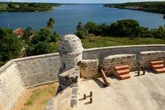由西恩富戈斯市的Jagua堡垒古巴的 库存图片