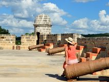 由西恩富戈斯市的Jagua堡垒古巴的 库存照片