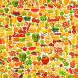 由许多果子做的黄瓜 免版税库存照片