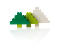 由设计做的圣诞树,白色背景 免版税库存图片