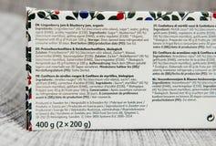 由越橘和blueb做的有机果酱宜家成份 免版税库存图片